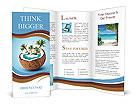 Imaginary tropical island in the coconut Brochure Templates