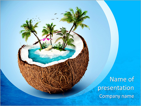 Imaginary tropical island in the coconut powerpoint template imaginary tropical island in the coconut powerpoint template toneelgroepblik Gallery