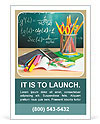 School Supplies Ad Template