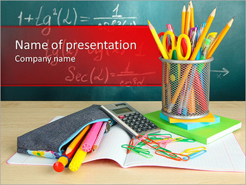 School Supplies PowerPoint Template