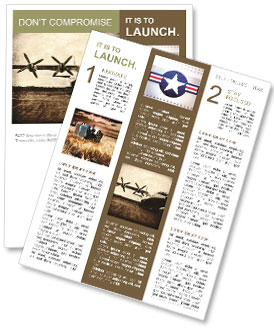 old plane newsletter template design id 0000008506