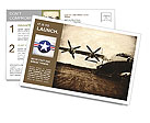 Old plane Postcard Templates