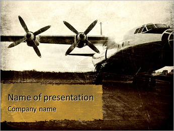 Old plane PowerPoint Template