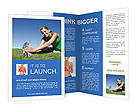 Sports girl doing exercises Brochure Templates