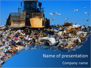 Wheelie machine throws garbage at the dump PowerPoint Templates