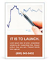 Tracking stock market charting Ad Template