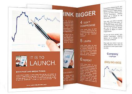 tracking stock market charting brochure template design id