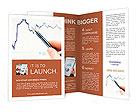 Tracking stock market charting Brochure Template