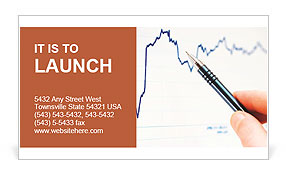 Tracking stock market charting Business Card Templates
