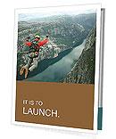 Man jumping with a parachute Presentation Folder