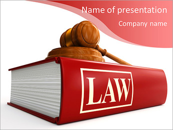 Code of Laws and gavel PowerPoint Template