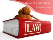 Code of Laws and gavel PowerPoint Templates