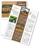 Combine harvests corn Newsletter Template