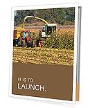 Combine harvests corn Presentation Folder