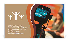 Filming TV shows Business Card Templates