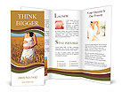 Pregnant woman standing in a wheat field Brochure Templates