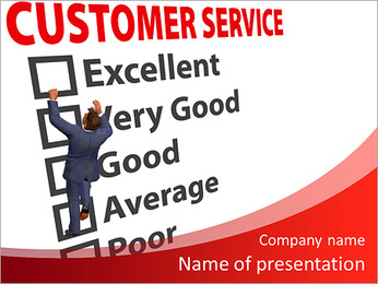 Selecting functions of customer service PowerPoint Template