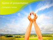 Gardez le soleil dans les mains de Modèles des présentations  PowerPoint