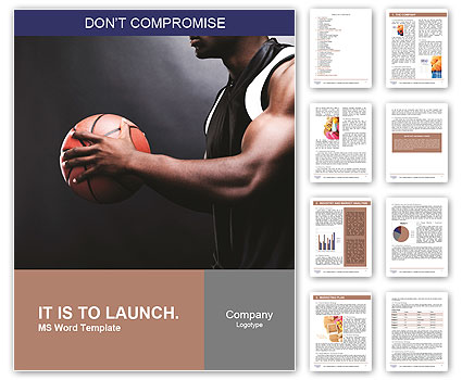 basketball player holding a ball word template design id