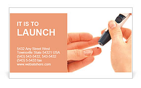 Analysis on diabetes Business Card Template