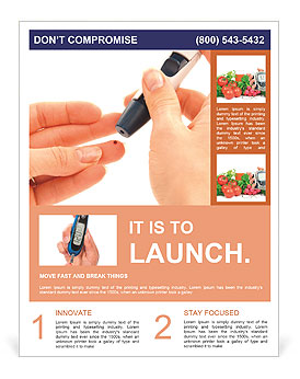 Lovely Analysis On Diabetes Flyer Template