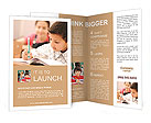 Schoolchild learns to write Brochure Templates