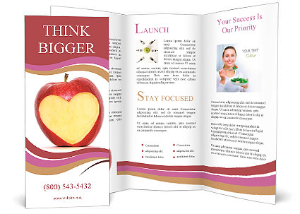 Heart carved on an apple brochure template design id for Apple brochure templates