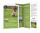 A boy playing football Brochure Templates