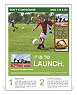 A boy playing football Flyer Templates