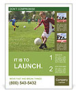 A boy playing football Poster Templates