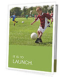 A boy playing football Presentation Folder