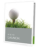 Golf ball on the green grass Presentation Folder