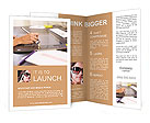 Drawing on a tablet Brochure Templates