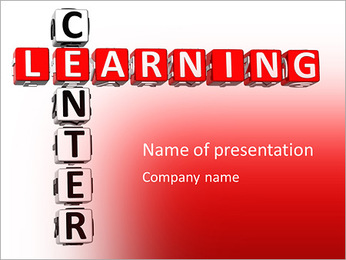 Learning Center in the form of a crossword puzzle PowerPoint Template