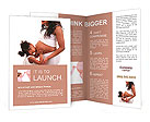 Daughter kissing belly of his pregnant mother Brochure Templates