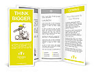 Mechanic with gears and key in hand Brochure Templates