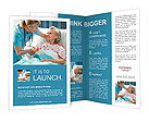 The doctor is interested in the health of elderly patients Brochure Templates