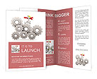 Large gears and mechanic with wrench Brochure Templates