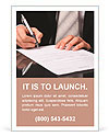 Businessman signs a document Ad Template