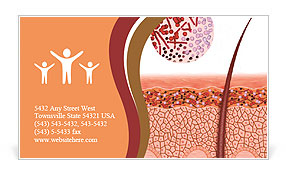 Fungus on the skin disease Business Card Template
