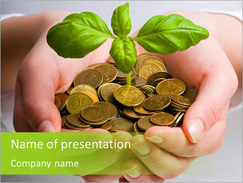Capital growth in your hands PowerPoint Template