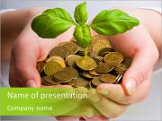 Capital growth in your hands PowerPoint Templates