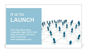 Illustration of social network Business Card Template