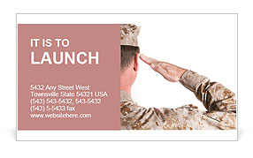 The military salute Business Card Template