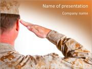 The military salute PowerPoint Templates