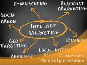 The word Internet Marketing and its derivatives PowerPoint Templates