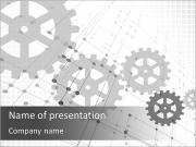 Gray gears PowerPoint Templates
