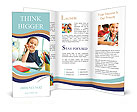 Image of a little schoolgirl Brochure Templates