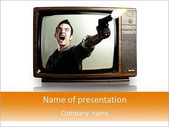 Credibility of television PowerPoint Template