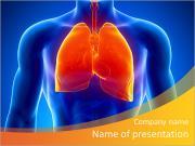 Lidské plíce a mužské anatomie PowerPoint šablony